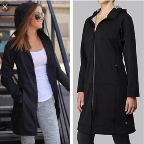 aff66425c2 lululemon athletica Jackets & Blazers - LULULEMON Apres Yoga Rain Jacket  Coat Black - 6 🔴